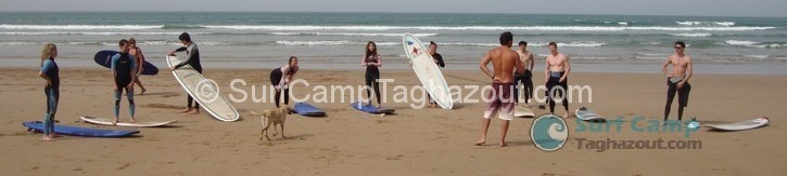 Surf Lesson Taghazout Panorama Beach Morocco