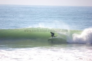 Kris getting barreled at Anchor Point