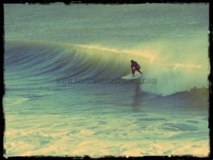 Kris surfing Morocco's surf spot Boilers
