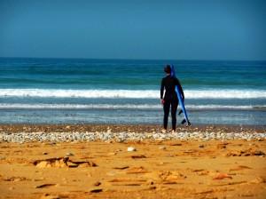 Surfer girl Taghazout beach break