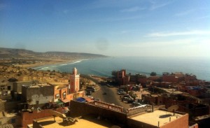 Rooftop terrace view Surf Camp Taghazout